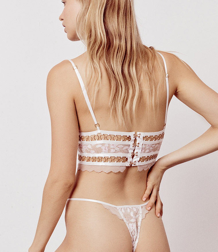 nikita jane for love and lemons mariette embroidery tiangle bra