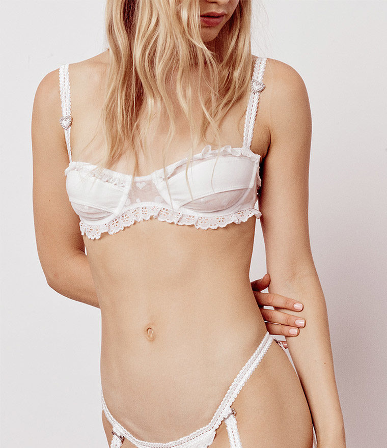 nikita jane for love and lemons antoinette underwire bra