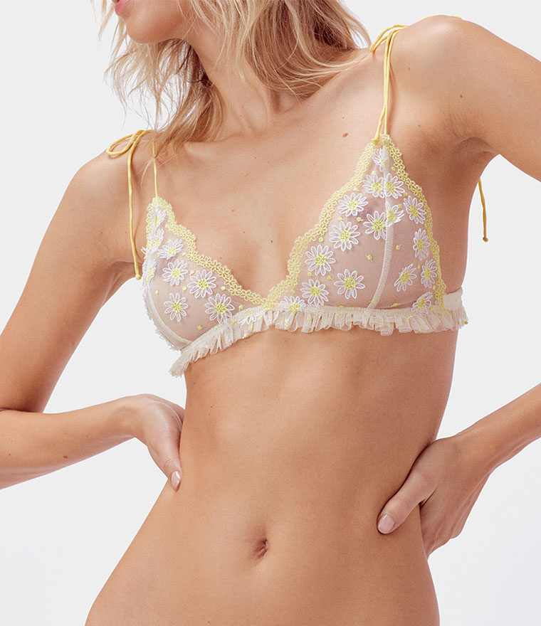 nikita jane for love and lemons lemon drop bralette