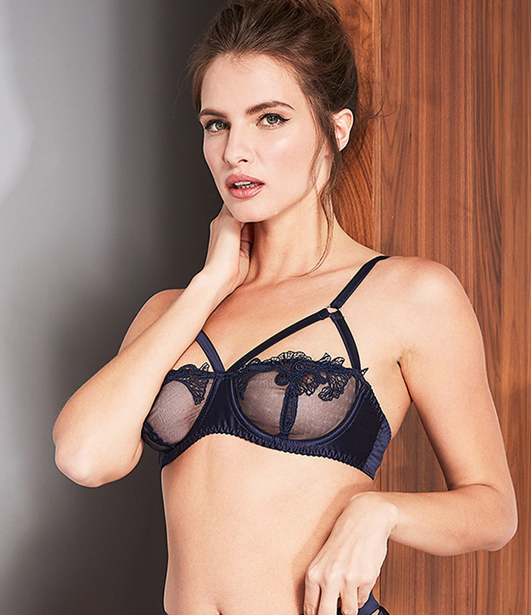 nikita jane fleur of england midnight balcony strap bra